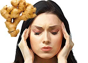 Ginger helps in controlling headache quickly