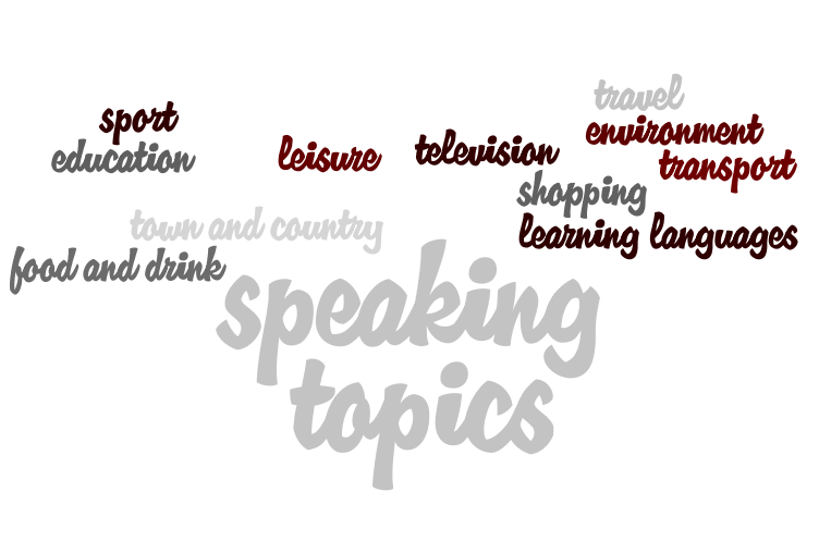 Sample Speaking Topics
